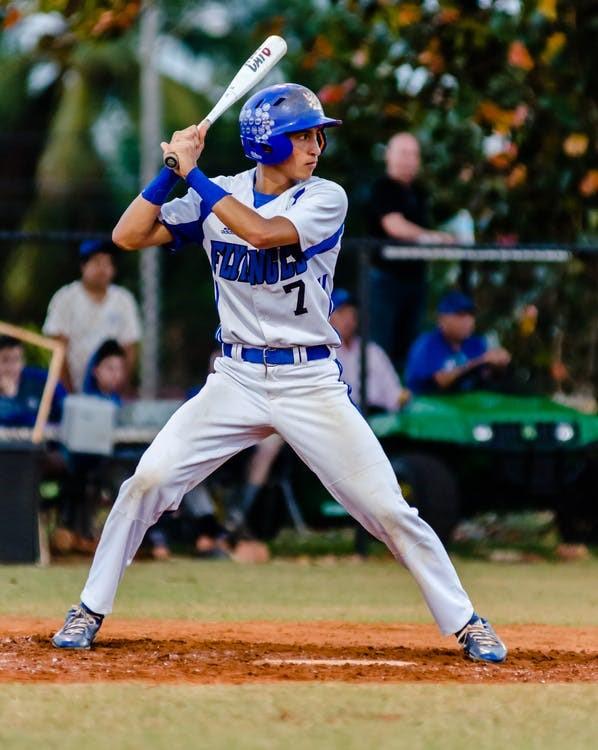 baseball batter adjusting his stance