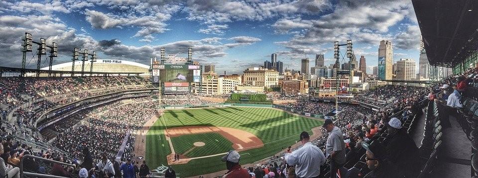 A baseball stadium.